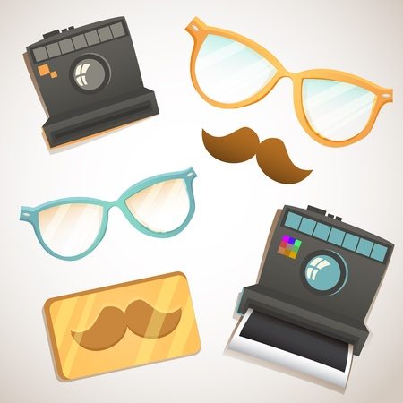 Hipster trendy items vintage collection Stock Vector - 20926632