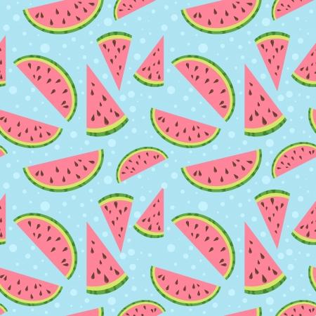 Watermeloen vector kleurrijke naadloze patroon