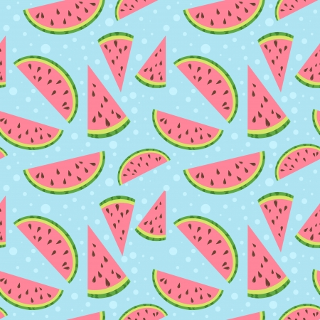 Watermelon vector colorful seamless pattern Illusztráció