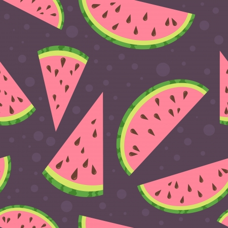 Watermelon vector colorful seamless pattern Vector