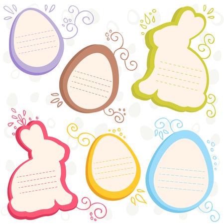 silhouette lapin: Lapin et oeufs de Pâques vente discount autocollants
