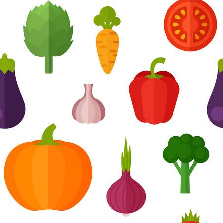 ?  ? carrot: Verduras planas sin patrón para las industrias textil, vegetariana textura fondo del blog, de uso de impresión y web, saludable y orgánica