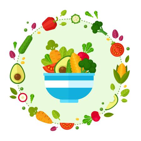 hausmannskost: Werbung Reihe von Konzept-Banner mit Flach Gem�se Symbole f�r vegetarisches Restaurant Hausmannskost und Bio-Men� gesunde Ern�hrung Rezepte