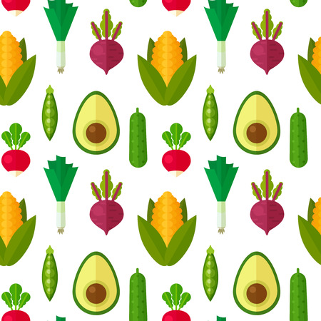 플랫 야채 원활한 패턴을 섬유, 채식 블로그 배경 질감, 인쇄 및 웹 사용, 건강 하 고 유기 스톡 콘텐츠 - 42778821