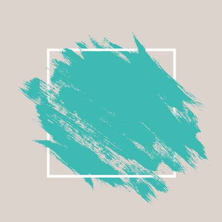 Zusammenfassung von Hand bemalt texturierte Tinte Pinsel Hintergrund mit geometrischen Rahmen, isoliert Schläge mit trockenen Ecken und Kanten Standard-Bild - 43143954
