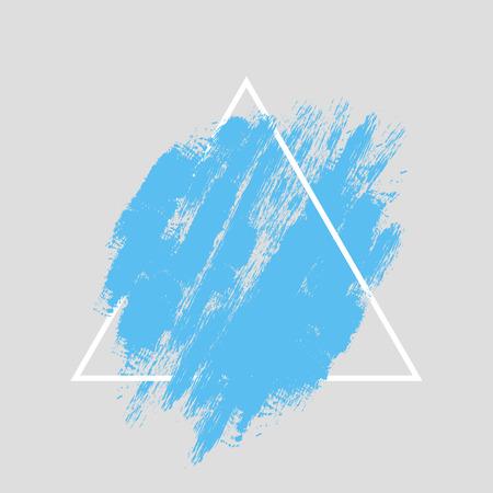 Zusammenfassung von Hand bemalt texturierte Tinte Pinsel Hintergrund mit geometrischen Rahmen, isoliert Schläge mit trockenen Ecken und Kanten Standard-Bild - 43143968
