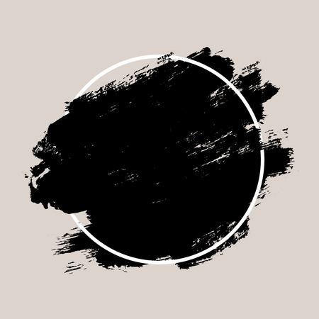 抽象的な手描きの幾何学的なフレームにテクスチャ インク ブラシの背景 写真素材 - 43871338