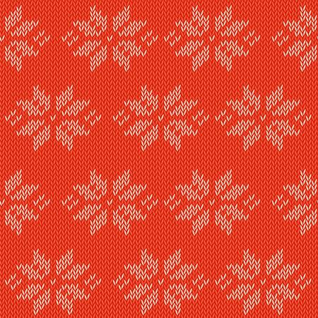 冬ニット カードと従来のウールの装飾的なパターンとテンプレート  イラスト・ベクター素材