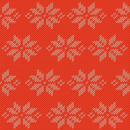 Winter knitted cards and templates with traditional wool ornamental patterns