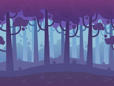 Game Naadloze Horizontale Bos Achtergrond voor side scrolling 2D games, actie, avontuur, hack en slash voor pc's, mobiele apps en browsers