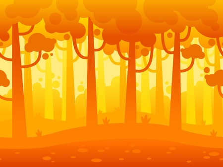 scrolling: Game Seamless Horizontal Forest Background for side scrolling 2D games, action, adventure, hack and slash for PC computers, mobile apps and browsers Illustration