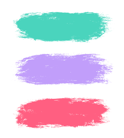 edges: Abstract hand painted textured ink brush backgrounds, paint strokes with dry rough edges Illustration
