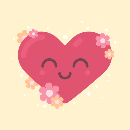 Cute Heart Character for Valentine's Day Illustration