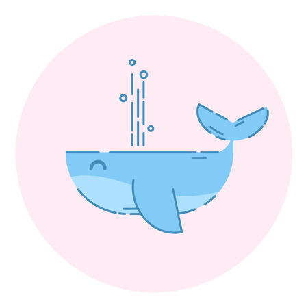 Cute Whale  Outlined Icon