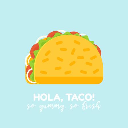 Delicious Taco Food Icon