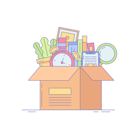 Office Box Icon for Business and Landing Illustration