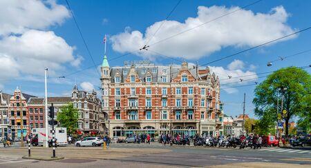 Traffic intersection at Amtsterdam Netherlands Europe