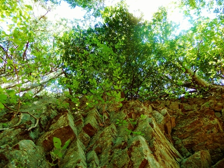 wall of rock Foto de archivo