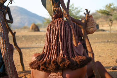 Himba Women's Hairstyles From Behind