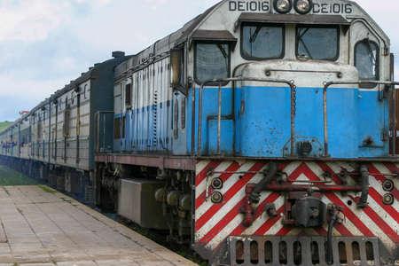 TAZARA diesel passenger train runs from Kapiri Mposhi, Zambia to Dar es Salaam, Tanzania