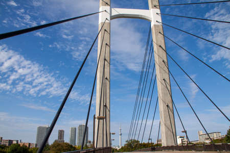 View of Cable Stayed Bridge against Sky, Tokyo, Japan