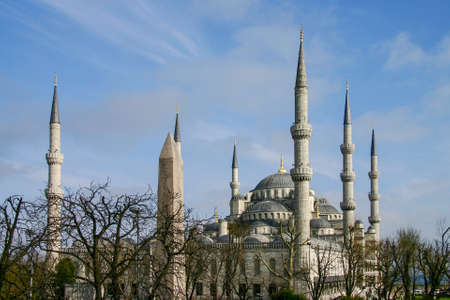 Beautiful Blue Mosque against the blue sky