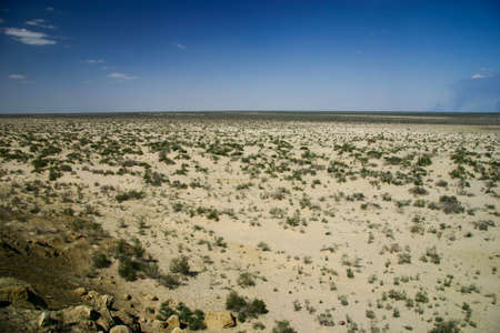 Desertified Aral Sea near Muynak in Uzbekistan