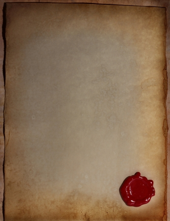 wax seal: old paper