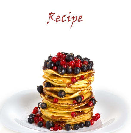 pancakes, recipe, your text photo