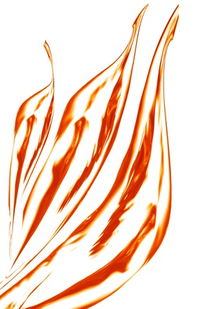 Fire, flame over white background Stock Photo - 21970419