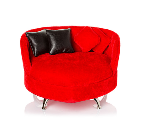 Red sofa, couch photo