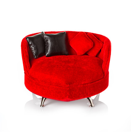 Red sofa couch photo