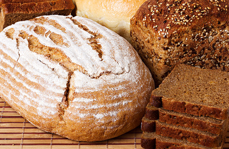 Bread background  Rural country still life photo