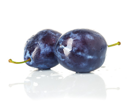 Group of plums isolated on a white background  photo