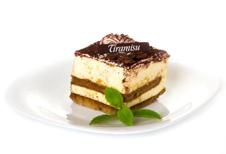 Heerlijke tiramisu dessert met cacao poeder op de top