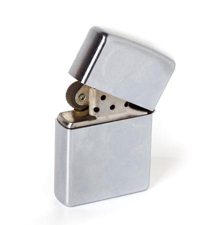 Silver metal lighter Stock Photo - 26445388