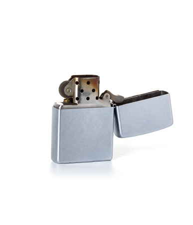 Silver metal lighter Stock Photo - 26445403