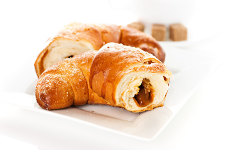 breakfast with croissants photo