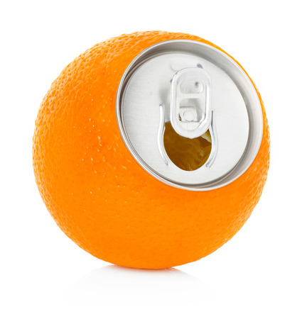fresh orange juice in a tin photo