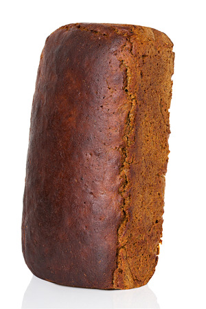 Brown bread isolated photo
