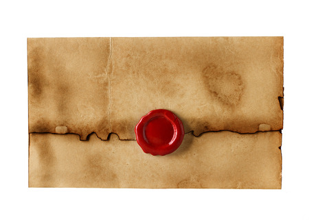 seal brown: old, vintage envelope isolated