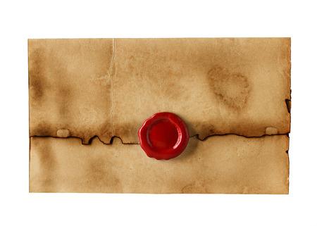 vecchio, busta d'epoca isolato