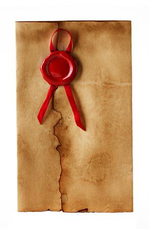 old envelope: old, vintage envelope isolated