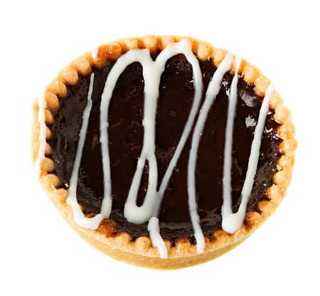 Chocolate tart isolated photo