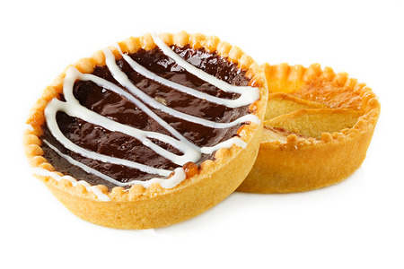 Tarts with apples and chocolate photo