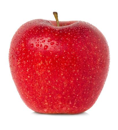 appel met waterdruppels Stockfoto