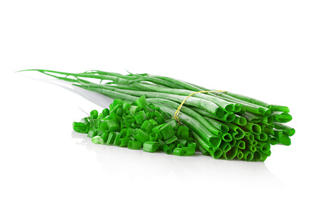 Fresh chives photo