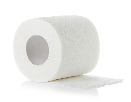 cleansing: toilet paper isolated on white background Stock Photo