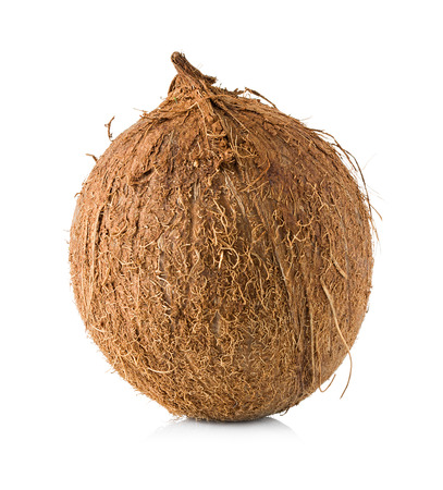 Coconut isolated on white photo