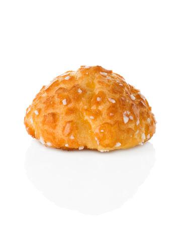 choux: pasta choux aislado en blanco Foto de archivo